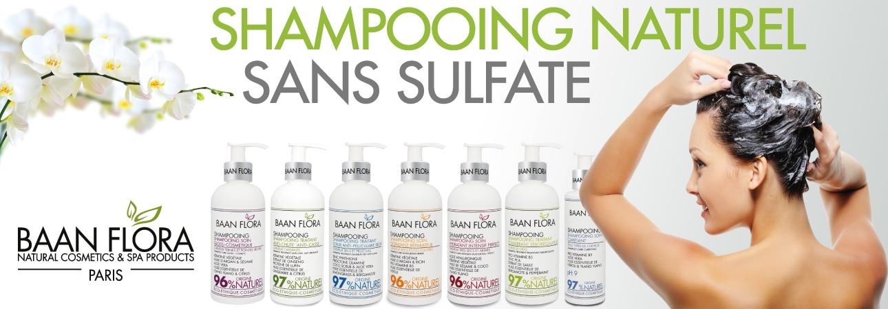 menu shampooing naturel sans sulfate baan flora